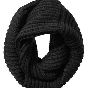 NEW Banana Republic Italian Yarn Black scarf GOTH